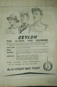 A Government of Ceylon recruitment poster from the Second World War.