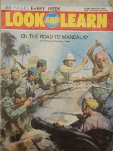 War and empire in British popular culture: An episode in the conquest of Burma, Look and Learn magazine for children, 1973.