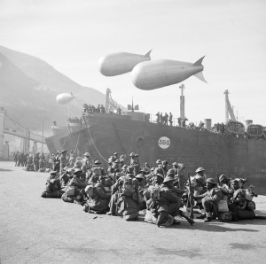 January 1944: Swazi troops of 1991 Swaziland Smoke Company wait at Castellammare for transit to Anzio, where they were to create smokescreens to shield the invasion area from the enemy.
