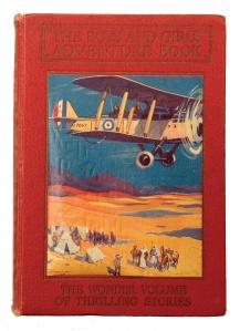 "War and empire in British popular culture: ""The Boys' and Girls' Adventure Book"" (1935), containing stories about gunboat diplomacy and the role of air power in imperial policing."